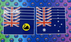 Catalogue Printed Contour Cut Die-Cut Australia and Western Australian Flags Vinyl Stickers