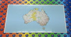 Catalogue Printed Hand Cut Vinyl Australian Map Panel Sticker