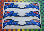 Catalogue Printed Contour Cut Australia Wave Flag Vinyl Stickers