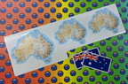 Catalogue Printed Contour Cut Vinyl Australian Flags & Australian Map Stickers