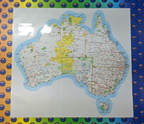 Catalogue Printed Contour Cut Vinyl Australian Map Sticker