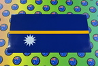 Catalogue Printed Contour Cut Die-Cut Nauru Flag Vinyl Stickers