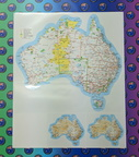 Catalogue Printed Contour Cut Vinyl Australian Map Stickers