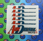 Catalogue Printed Contour Cut Die-Cut Air Diesel Vinyl Business Logo Stickers