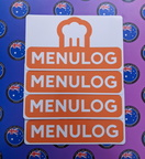 Catalogue Printed Contour Cut Die-Cut Menulog Vinyl Business Logo Stickers